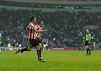 Photo: Andrew Unwin.<br /> Sunderland v Fulham. The Barclays Premiership. 04/05/2006.<br /> Sunderland's Anthony Le Tallec (L) celebrates scoring his team's first goal.