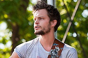 Kristian Matsson, The Tallest Man On Earth, photo by music photographer Mara Robinson, at the Pitchfork Music Festival, Chicago, Friday, July 16, 2010