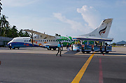 Ko Samui Airport. A Bangkok Airways ATR 72 Turboprop.