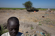 A child living in  the SPLA's most northern barracks in Upper Nile State.