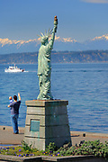 Replica of the Statue of Liberty on Seattle's Alki Beach