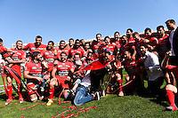 Equipe Toulon avec le trophee Champions Cup - 09.05.2015 - Toulon / Castres - 24eme journee de Top 14 <br /> Photo : Alexandre Dimou / Icon Sport