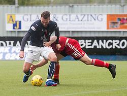 Falkirk's Lee Miller scoring their second goal. Falkirk 2 v 0 Ayr, Scottish Championship game played 24/9/2016 at The Falkirk Stadium .