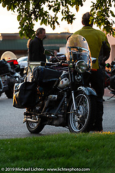 Brian Pease's 1938 Nimbus C (in a 52 frame) during the Cross Country Chase motorcycle endurance run from Sault Sainte Marie, MI to Key West, FL (for vintage bikes from 1930-1948). Stage 2 from Ludington, MI to Milwaukee, WI, USA. Saturday, September 7, 2019. Photography ©2019 Michael Lichter.