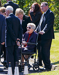 © Licensed to London News Pictures. 12/06/2015. Fort William, UK. Colleagues, friends and family attending the funeral of ex-Liberal Democrat leader Charles Kennedy at St John's Church in Caol, near his Fort William home in Scotland on Friday, June 12, 2015. Mr Kennedy died suddenly on June 1, 2015 at the age of 55 after suffering a major haemorrhage as a result of a long battle with alcoholism. Photo credit: Tolga Akmen/LNP