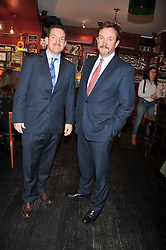 Left to right, SIMON WARRENDER and RICHARD WARRENDER founders of W&W Private Jewellers at a party to celebrate the best of W&W Jewellery held at Barts, 87 Sloane Avenue, London on 26th November 2012.