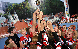 HAC Extreme, Finland (1st place in category Cheer mix - junior) during final ceremony at second day of European Cheerleading Championship 2008, on July 6, 2008, in Arena Tivoli, Ljubljana, Slovenia. (Photo by Vid Ponikvar / Sportal Images).
