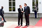 Secretaris-generaal Ban Ki-moon van de Verenigde Naties is dinsdag benoemd tot Ridder Grootkruis in de Orde van de Nederlandse Leeuw. Hij kreeg de hoge koninklijke onderscheiding voor al zijn verdiensten in het Catshuis, Den Haag<br /> <br /> Secretary-General Ban Ki-moon of the United Nations on Tuesday made a Knight Grand Cross of the Order of the Dutch Lion. He received the royal honor for all his merits int the Catshuis, Den Haag<br /> <br /> Op de foto / On the photo:  Secretaris-generaal Ban Ki-moon en Minister Bert Koenders van Buitenlandse Zaken