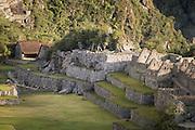 Details of buildings at Machu Picchu, Cusco Region, Urubamba Province, Machupicchu District in Peru, South America