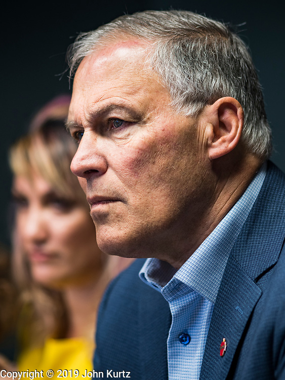 03 JUNE 2019 - DES MOINES, IOWA: Governor JAY INSLEE (D-WA), at a NARAL event in Des Moines. Governor Inslee is running to be the Democratic candidate for the US Presidency in 2020, He talked to a group of NARAL supporters in Des Moines Monday morning and committed his support to a woman's rights to choose. Iowa traditionally hosts the the first election event of the presidential election cycle. The Iowa Caucuses will be on Feb. 3, 2020.                        PHOTO BY JACK KURTZ
