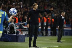 PSG's coach Thomas Tuchel during the Group stage of the Champion's League, Paris-St-Germain vs Napoli in Parc des Princes, Paris, France, on October 24th, 2018. PSG and Napoli drew 2-2. Photo by Henri Szwarc/ABACAPRESS.COM