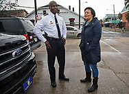 New Orleans police chief  Shaun Ferguson with New Orleans Mayor LaToya Chantrell  at a gun buyback event she called for on Jan 20, 2019. The line started at 5:30.  Only 200 of the more than 1000 people who turned out were able to claim the $500 offered for any gun in working condition turned in. When the Mayor first announced the buyback program no limits were put on how many guns you could bring in for $500. That was changed to $500 maximum payout to any one who could prove residency in Orleans Parish.