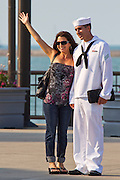 A U.S. Navy Seaman at the Chicago harbor Illinois, USA