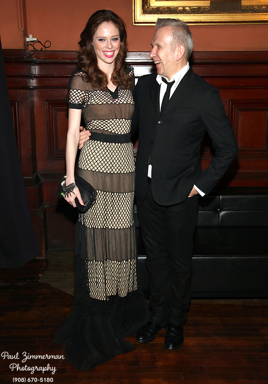NEW YORK, NY - MARCH 17:  (L-R) Coco Rocha and fashion designer Paul Jean Gaultier attend the Lycee Francais de New York 2012 gala at the Park Avenue Armory on March 17, 2012 in New York City.  (Photo by Paul Zimmerman/WireImage)