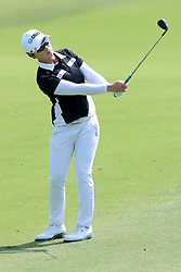 March 3, 2019 - Singapore - Eun-Hee Ji of South Korea plays a shot on the 5th hole during the final round of the Women's World Championship at the Tanjong Course, Sentosa Golf Club. (Credit Image: © Paul Miller/ZUMA Wire)