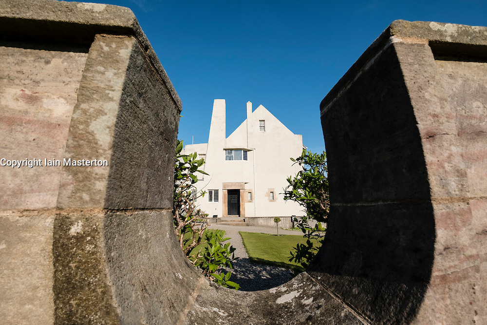 View of Hill House in Helensburgh, designed by Charles Rennie Mackintosh,;Scotland, United Kingdom