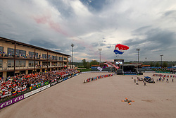 Opening ceremony, parachute jumpers<br /> World Equestrian Games - Tryon 2018<br /> © Hippo Foto - Dirk Caremans<br /> 11/09/2018
