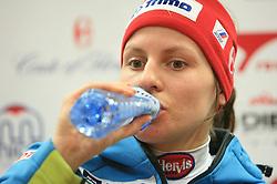Vanja Brodnik at press conference of Women Slovenian alpine team before the World Championship in Val d'Isere, France, on January 26, 2009, in Ljubljana, Slovenia. (Photo by Vid Ponikvar / Sportida).