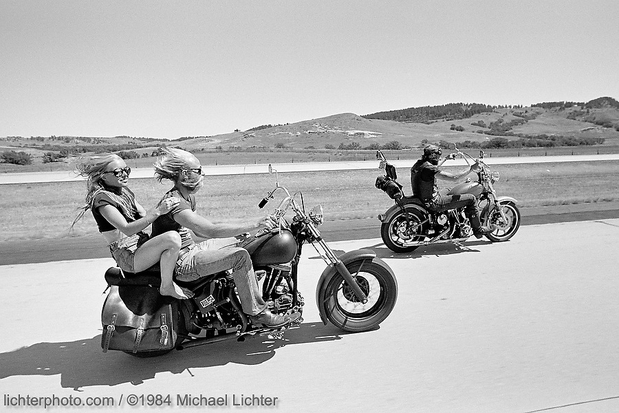 Blowin' in the Wind, I-90, SD. 1984<br /> <br /> Limited Edition Print from an edition of 20. Photo ©1984 Michael Lichter.
