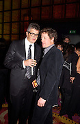 Jay Jopling and Hugh Grant, Frieze opening after-party hosted by White Cube and Sketch, 16 October 2003. © Copyright Photograph by Dafydd Jones 66 Stockwell Park Rd. London SW9 0DA Tel 020 7733 0108 www.dafjones.com