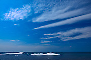 Ice on Lake Superior with clouds<br />