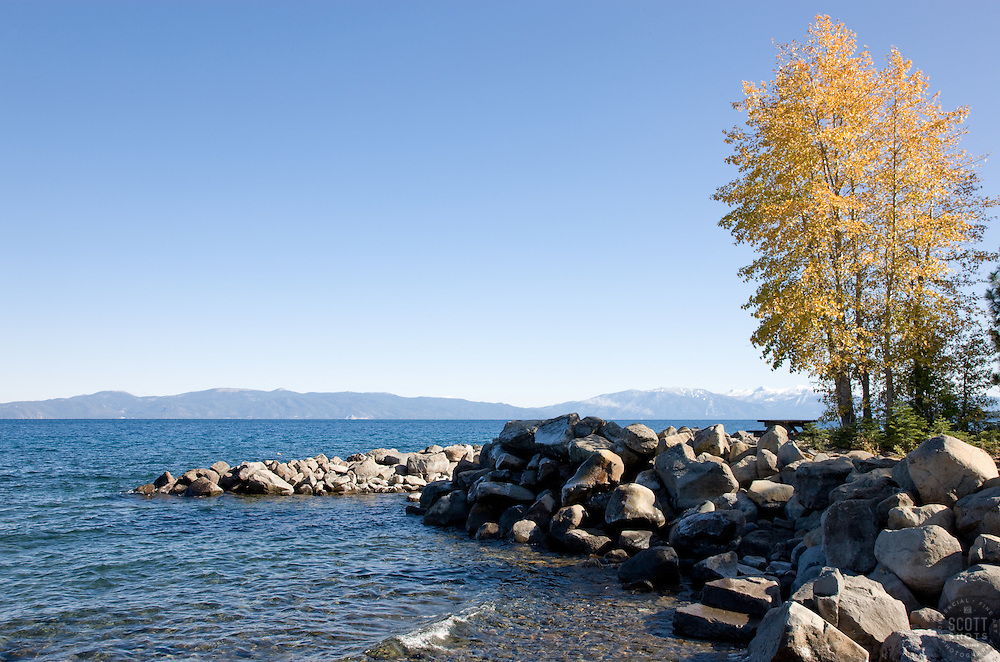 """""""Lake Tahoe in Autumn""""- This scene was photographed just north of Idlewild, Lake Tahoe, CA."""