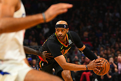 January 29, 2019 - Los Angeles, CA, U.S. - LOS ANGELES, CA - JANUARY 28: Atlanta Hawks Forward Vince Carter (15) looks to make a move during a NBA game between the Atlanta Hawks and the Los Angeles Clippers on January 28, 2019 at STAPLES Center in Los Angeles, CA. (Photo by Brian Rothmuller/Icon Sportswire) (Credit Image: © Brian Rothmuller/Icon SMI via ZUMA Press)