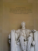 View of the Lincoln Memorial, Washington, DC.