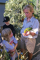 Woman Showing Birds To Youngster