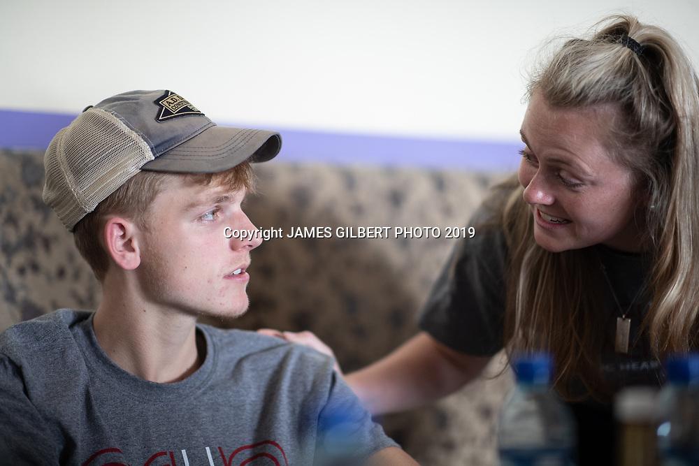 Matt Davis <br /> Sarah Raynor <br /> <br /> St Joe mission trip to Belize 2019. JAMES GILBERT PHOTO 2019