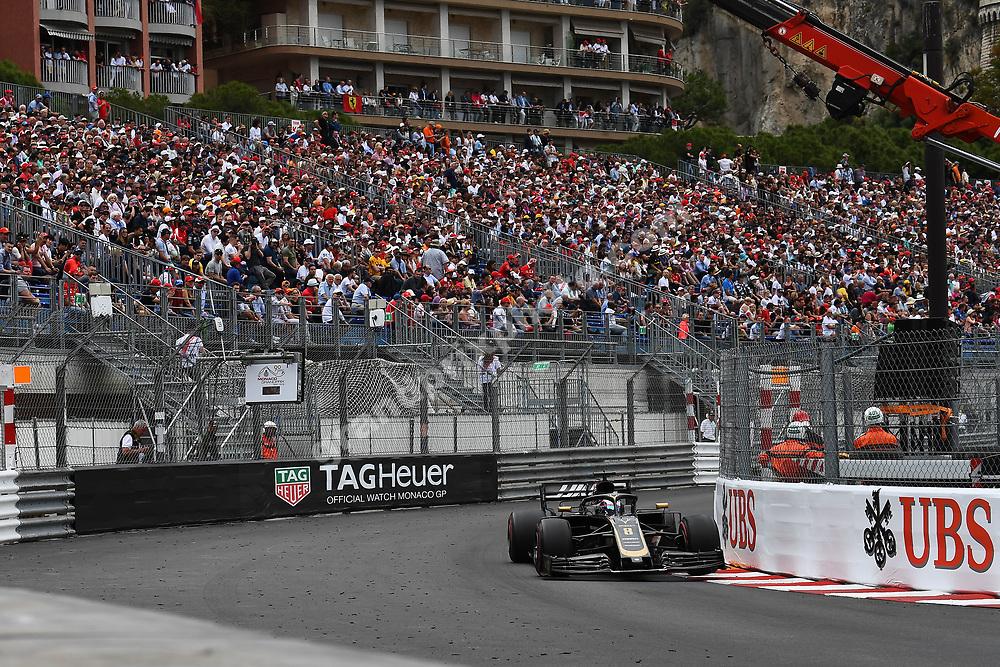 Romain Grosjean (Haas-Ferrari) during the 2019 Monaco Grand Prix. Photo: Grand Prix Photo