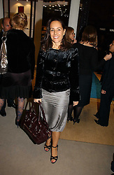 SARAH MANLEY at a party to celebrate the 10th anniversary of the Smythson Fashion Diary and to the launch of the 2007 Limited Edition held at Smythson, New Bond Street, London on 25th October 2006.<br /><br />NON EXCLUSIVE - WORLD RIGHTS