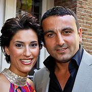 NLD/Amsterdam/20100603 - Uitreiking Talkies Terras Award 2010, Kristina Bozilovic en partner Tamar Gönen