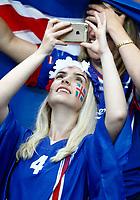 Iceland supporter. tifosa islandese<br /> Paris 03-07-2016 Stade de France Football Euro2016 France - Iceland / Francia - Islanda Quarter finals <br /> Foto Matteo Ciambelli / Insidefoto