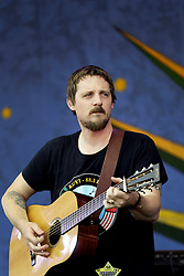 30 April 2015. New Orleans, Louisiana.<br /> The New Orleans Jazz and Heritage Festival. <br /> Sturgill Simpson on the Genilly stage.<br /> Photo; Charlie Varley/varleypix.com