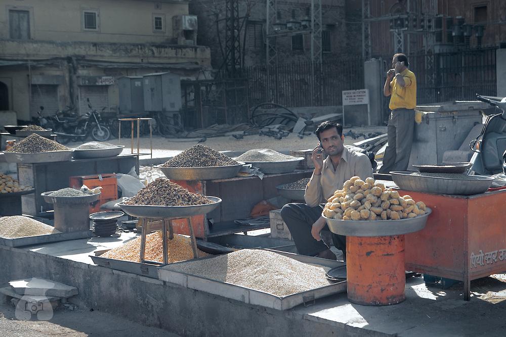 Bird seeds vendor, Jaipur, Rajasthan, India