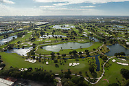 Aerial view of the Blue Monster Golf Course at the Doral Country Club.