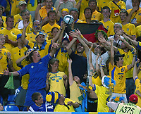 Faro 27/6/2004 Euro2004 <br />Svezia - Olanda 4-5 after penalties (0-0) <br />Sweden fans<br />Photo Andrea Staccioli Graffiti