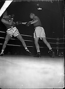 05/10/1956<br /> 10/05/1956<br /> 05 October 1956 <br /> <br /> Boxing - Special for Cork and Belfast Telegraph - International Boxing - Ireland vs Wales