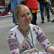 Trafalgar square, 8 August 2021. Hundreds of Hindus believers celebrate a feast in London Rathayatra 2021, London, UK.