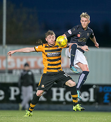 Alloa Athletic's Michael Doyle and Falkirk's Craig Sibbald. <br /> Falkirk 5 v 0 Alloa Athletic, Scottish Championship game played at The Falkirk Stadium.