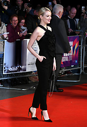 October 12, 2017 - London, England, United Kingdom - 10/12/17.Emma Stone at the premiere of ''Killing of a Sacred Deer'' in London, England. (Credit Image: © Starmax/Newscom via ZUMA Press)