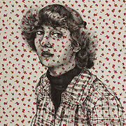 """Title: Francis<br /> Artist: Holly Kuhl<br /> Date: 2018<br /> Medium: Graphite on fabric<br /> Dimensions: 36 x 48""""<br /> Instructor: David Thornberry<br /> Awards: 42nd Annual Student Art Exhibition - Best in Show, 2018 President's Award<br /> Status: On display<br /> Location: HLC4000, 2nd Floor"""