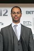 June 30, 2012-Los Angeles, CA : Producer Jessie Collins attends the 2012 BET Awards- Media Room held at the Shrine Auditorium on July 1, 2012 in Los Angeles. The BET Awards were established in 2001 by the Black Entertainment Television network to celebrate African Americans and other minorities in music, acting, sports, and other fields of entertainment over the past year. The awards are presented annually, and they are broadcast live on BET. (Photo by Terrence Jennings)