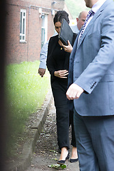 © Licensed to London News Pictures. 04/06/2018. London, UK.  CHRISTINE LAMPARD arrives at Isleworth Crown Court. A Newton hearing will take place to determine whether Christof King sent abusive tweets to TV presenter Christine Lampard. Mr King has admitted one charge of stalking but denies sending a string of messages to Mrs Lampard.  Photo credit: Vickie Flores/LNP