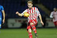 Connor Ogilvie (on loan from Tottenham Hotspur) (Stevenage) clears the ball during the Sky Bet League 2 match between Hartlepool United and Stevenage at Victoria Park, Hartlepool, England on 9 February 2016. Photo by Mark P Doherty.