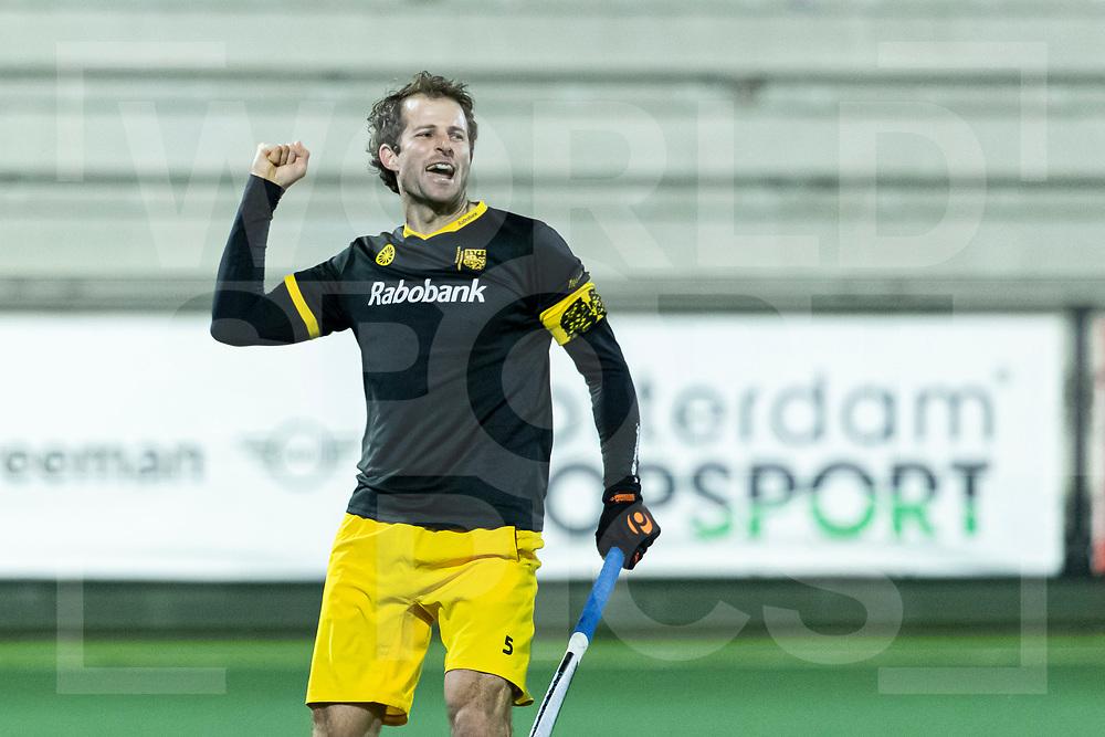 Rotterdam, Tulp Hoofdklasse Hockey Heren, Seizoen 2020-2021, 16-04-2021, Rotterdam - Den Bosch 0-3, Austin Smith (a) (Den Bosch) scoort de 0-3. COPYRIGHT WORLDSPORTPICS WILLEM VERNES