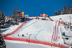 18.01.2017, Hahnenkamm, Kitzbühel, AUT, FIS Weltcup Ski Alpin, Kitzbuehel, Abfahrt, Herren, 2. Training, Streckenbesichtigung, im Bild Hausbergkante // Hausberg during the course inspection for the 2nd practice run of men's Downhill of FIS Ski Alpine World Cup at the Hahnenkamm in Kitzbühel, Austria on 2017/01/18. EXPA Pictures © 2017, PhotoCredit: EXPA/ Johann Groder