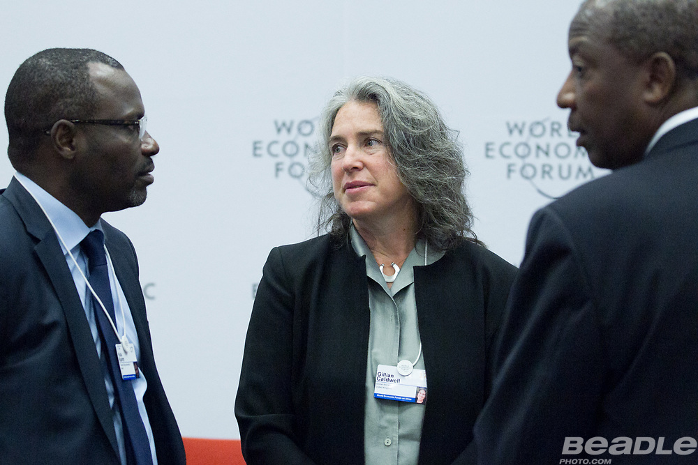 Kola Karim, Group Managing Director and Chief Executive Officer<br /> Shoreline Natural Resources and Gillian Caldwell, Chief Executive Officer<br /> Global Witness at the World Economic Forum on Africa 2017 in Durban, South Africa. Copyright by World Economic Forum / Greg Beadle