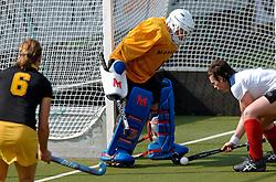 15-05-2005 HOCKEY: DEN BOSCH - HIGHTOWN: EUROPACUP 1: DEN BOSCH<br /> Den Bosch heeft vandaag de finale bereikt van het toernooi om de Europa Cup voor landskampioenen. De Brabantse ploeg deed dat met overmacht: 7-1 tegen het Engelse Hightown / Marjolijn Spruijt was dicht bij haar treffer maar werd gestopt<br /> ©2005-WWW.FOTOHOOGENDOORN.NL
